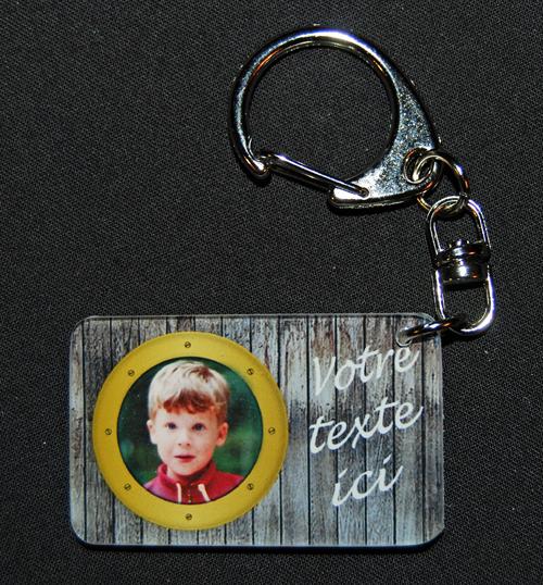 Porte cles photo personnalise porte clefs porte cle - Porte clef personnalise photo recto verso ...