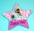 Magnet photo sculpture ÉTOILE DE NÖEL 9 x 8,5 cm