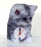 Photosculpture Horloge de chat 01