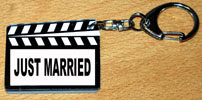 porte-clés CLAP CINEMA JUST MARRIED