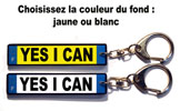 Porte-clés plaque immatriculation YES I CAN