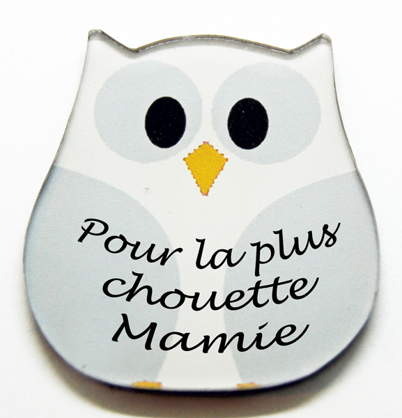 Magnet chouette blanche