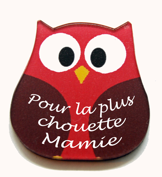 Magnet chouette rouge